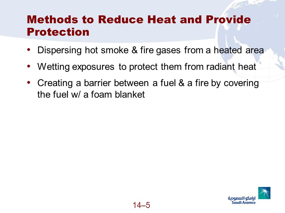 Methods to Reduce Heat and Provide Protection
