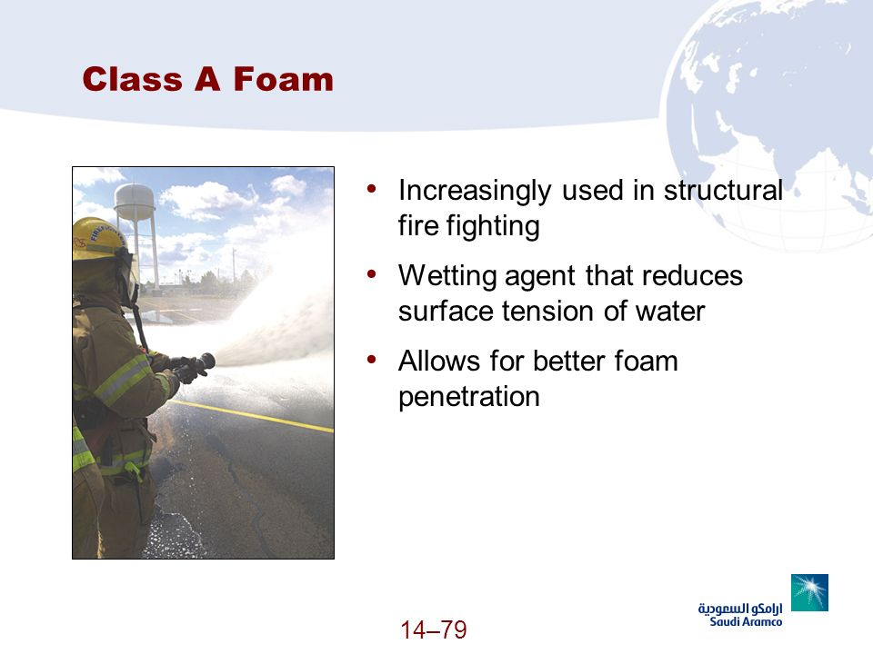 Class A Foam Increasingly used in structural fire fighting