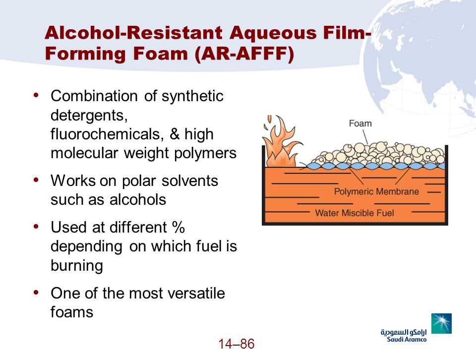 Alcohol-Resistant Aqueous Film-Forming Foam (AR-AFFF)
