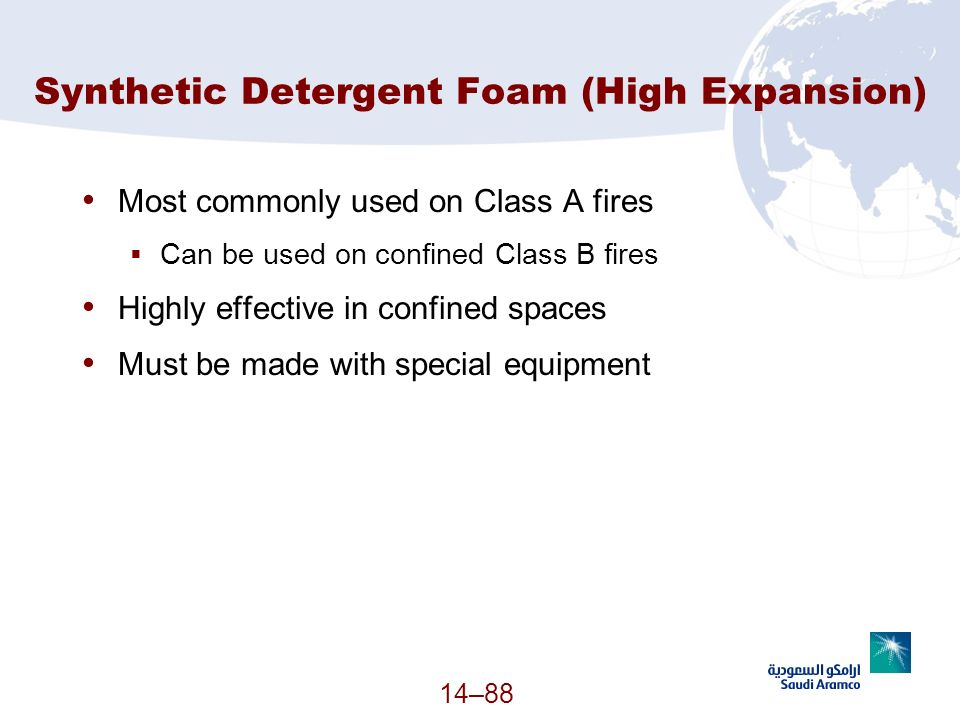 Synthetic Detergent Foam (High Expansion)