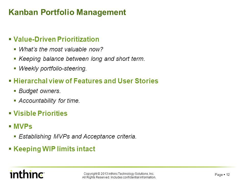 Kanban Portfolio Management