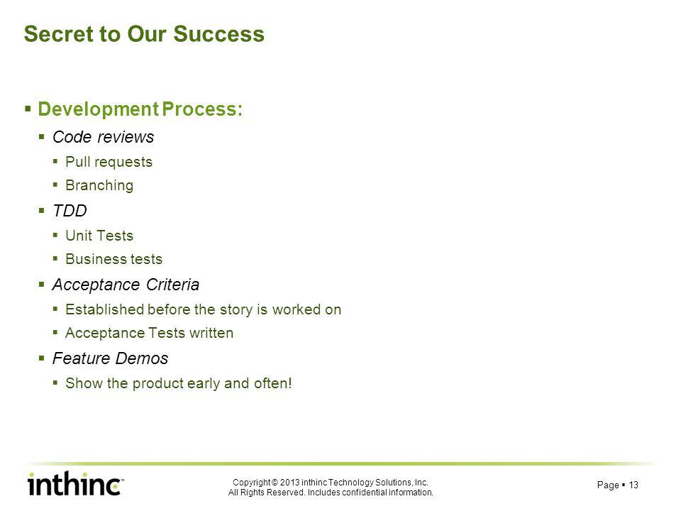 Secret to Our Success Development Process: Code reviews TDD