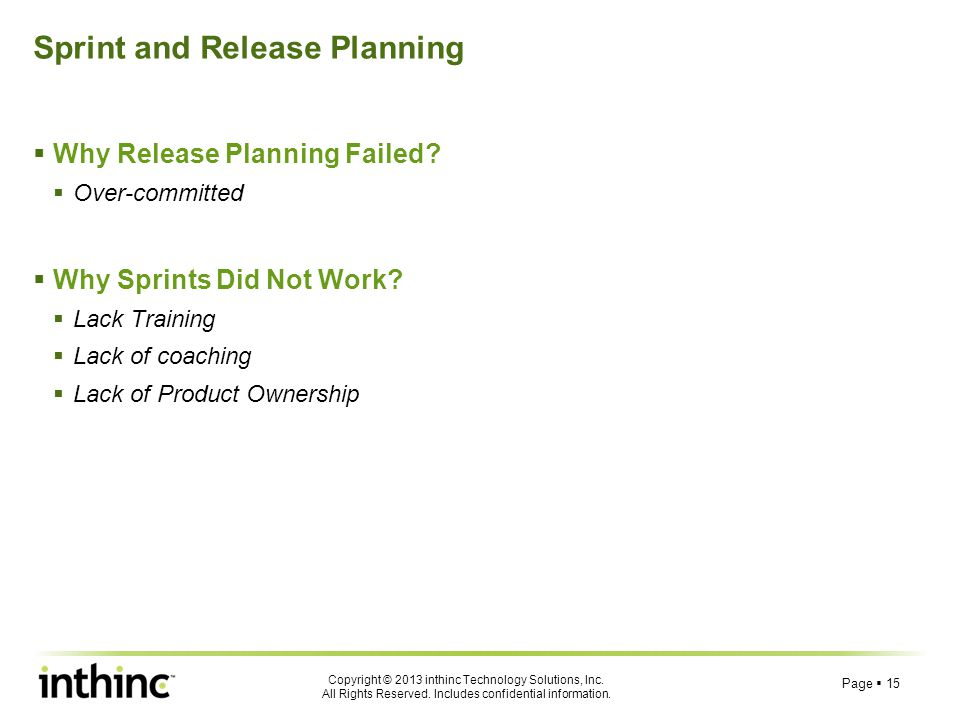 Sprint and Release Planning