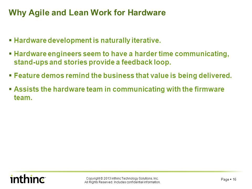 Why Agile and Lean Work for Hardware