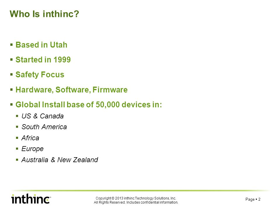 Who Is inthinc Based in Utah Started in 1999 Safety Focus