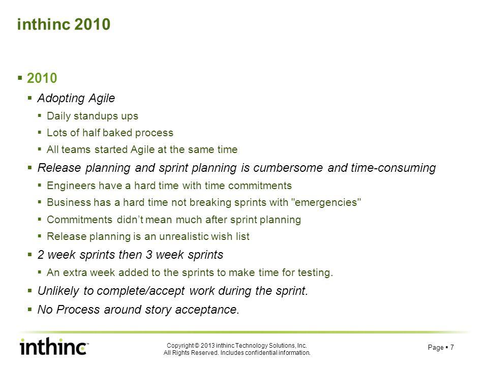 inthinc 2010 2010 Adopting Agile