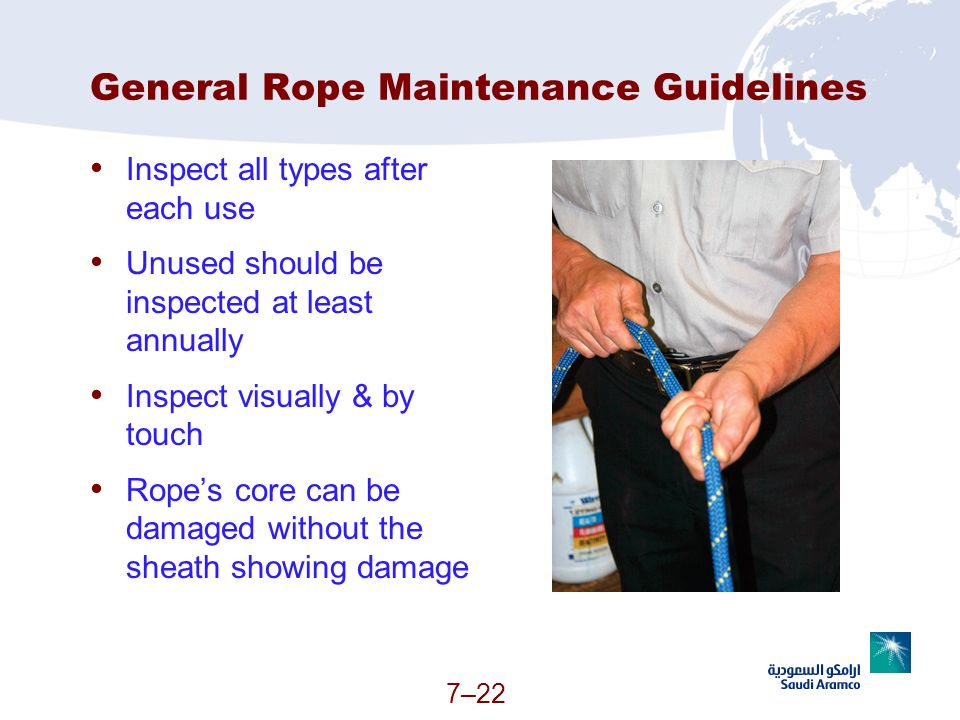 General Rope Maintenance Guidelines
