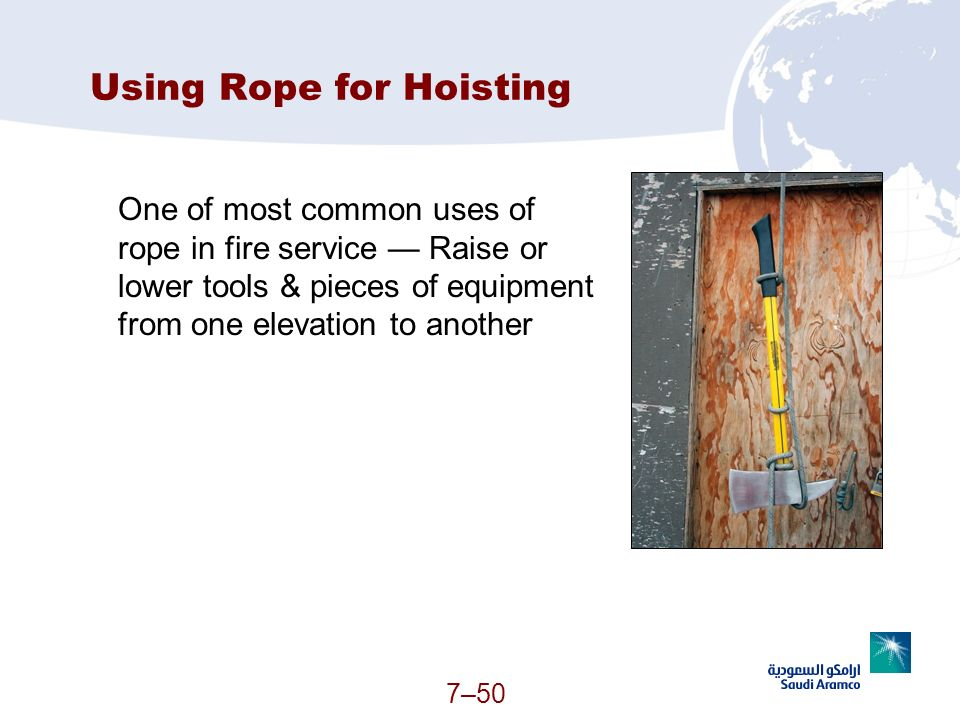Using Rope for Hoisting