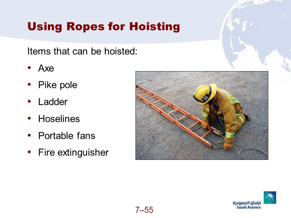 Using Ropes for Hoisting