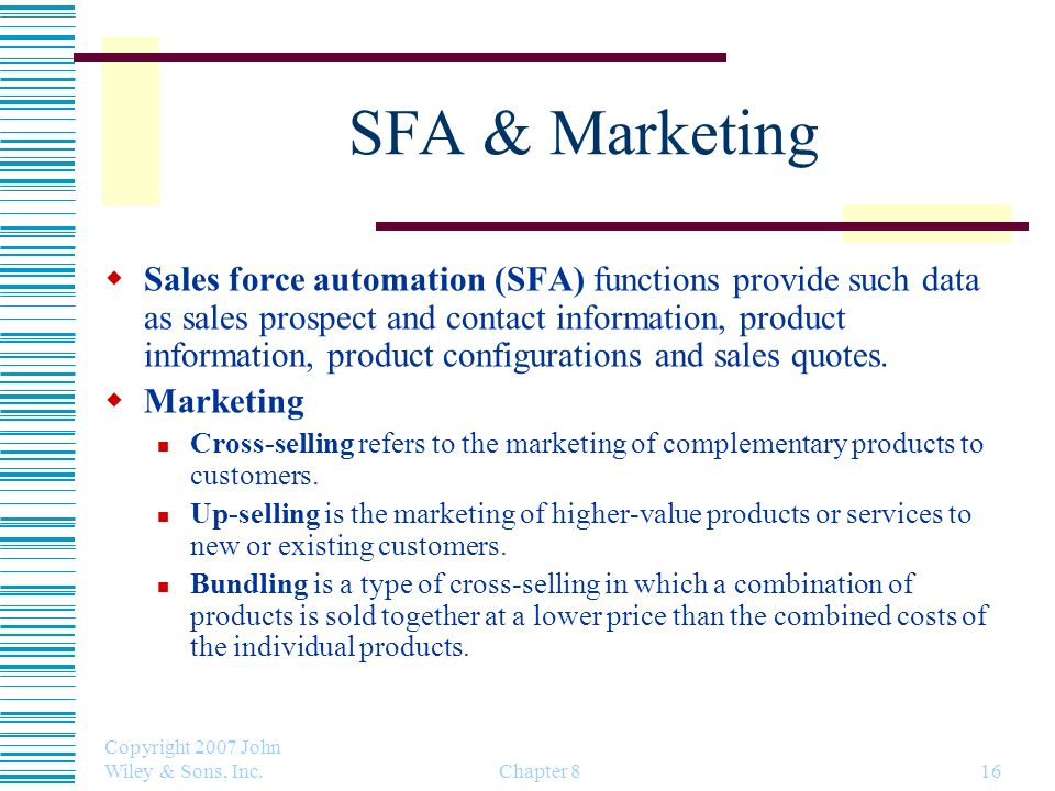 SFA & Marketing