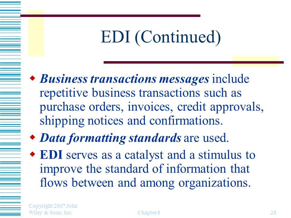 EDI (Continued)