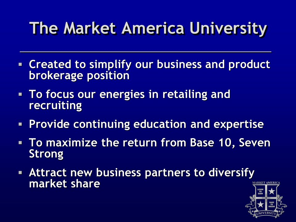 The Market America University