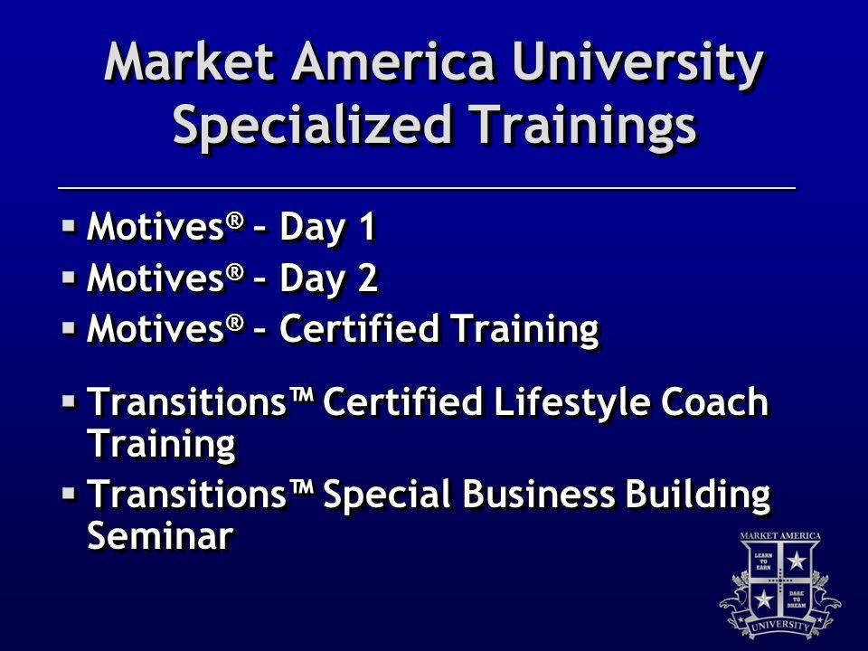 Market America University Specialized Trainings