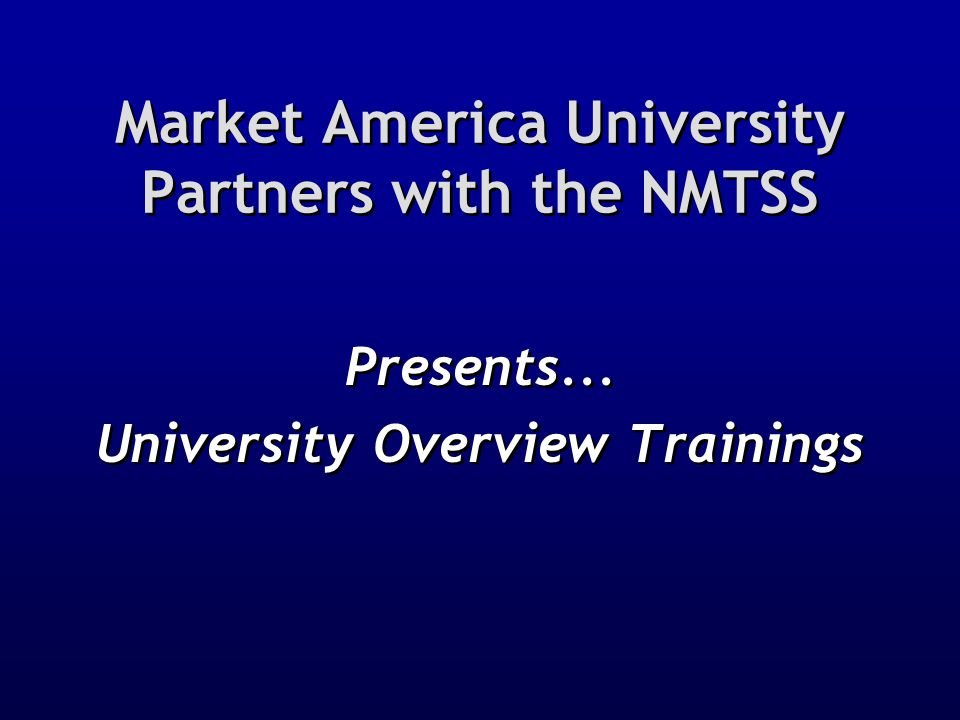 Market America University Partners with the NMTSS
