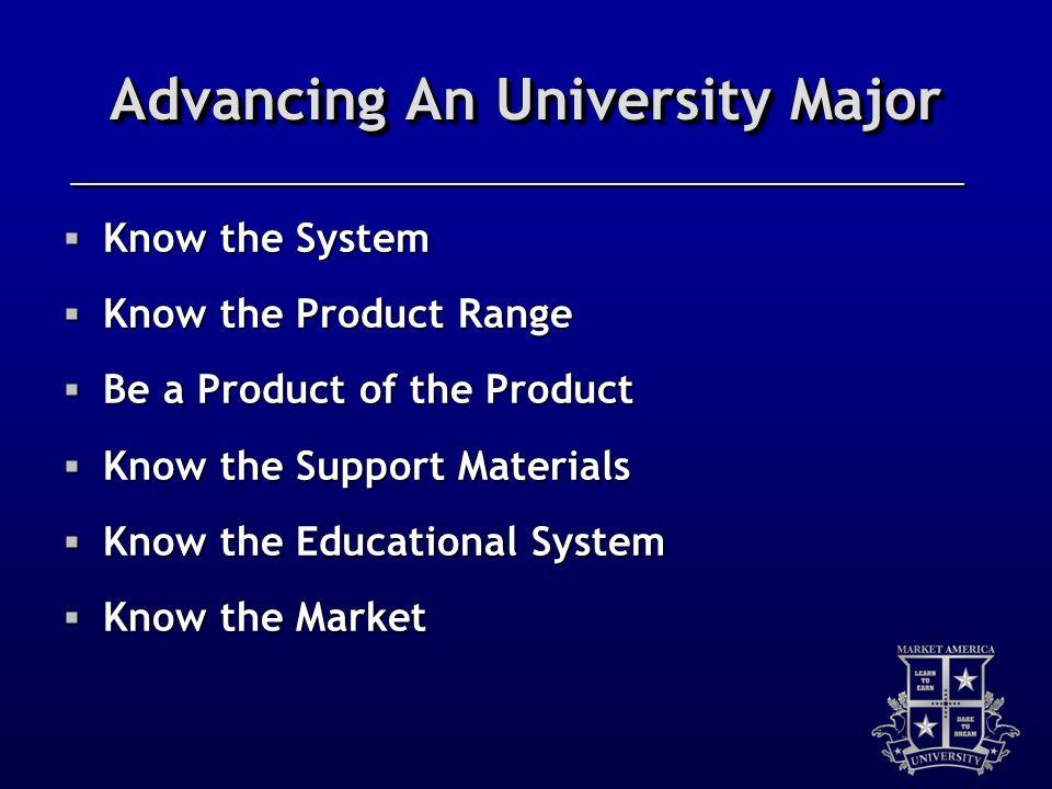 Advancing An University Major