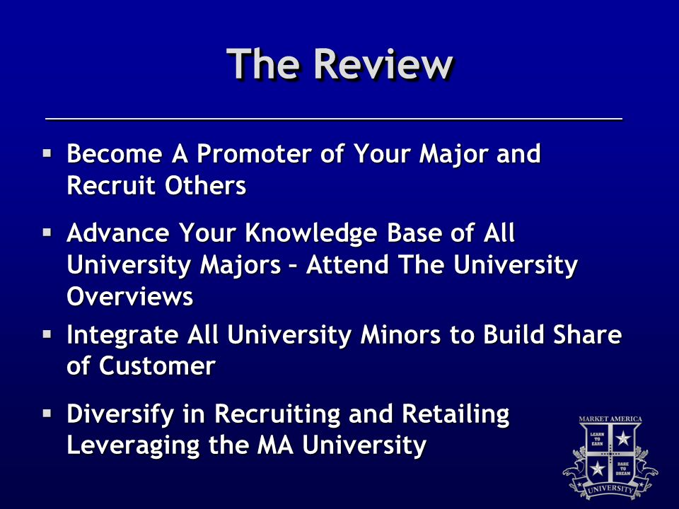 The Review Become A Promoter of Your Major and Recruit Others