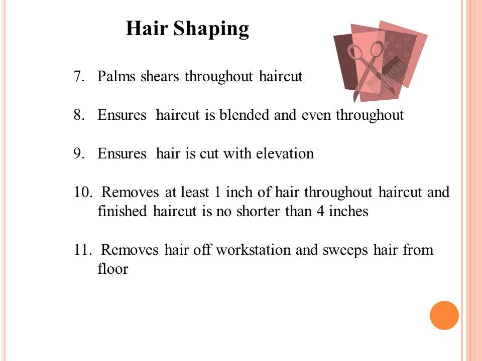Hair Shaping Palms shears throughout haircut