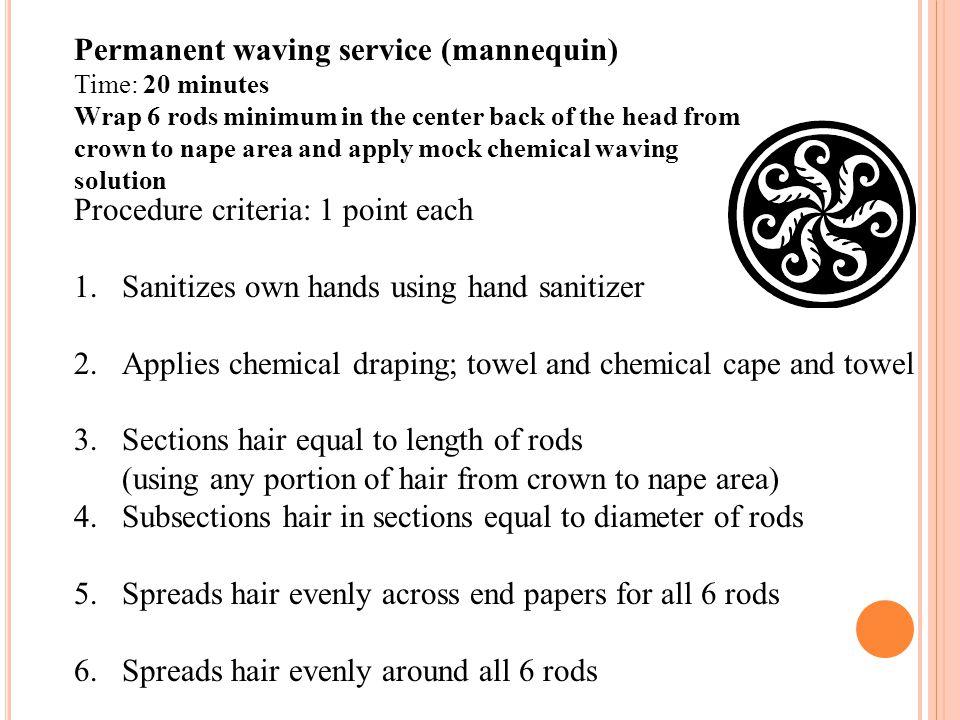 Permanent waving service (mannequin)