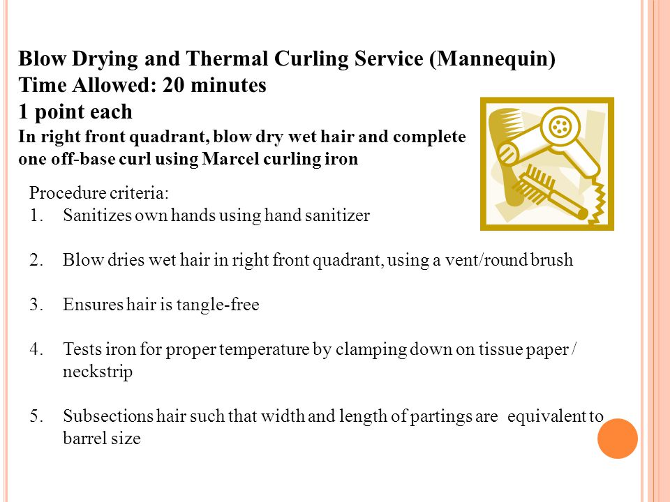 Blow Drying and Thermal Curling Service (Mannequin)