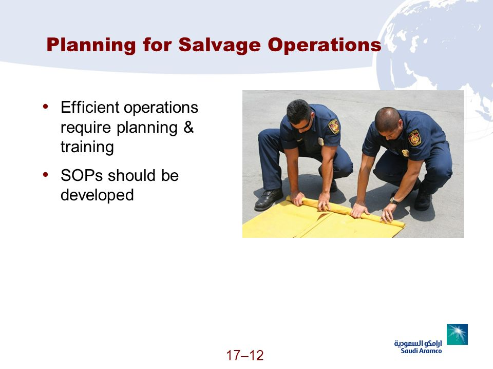 Planning for Salvage Operations