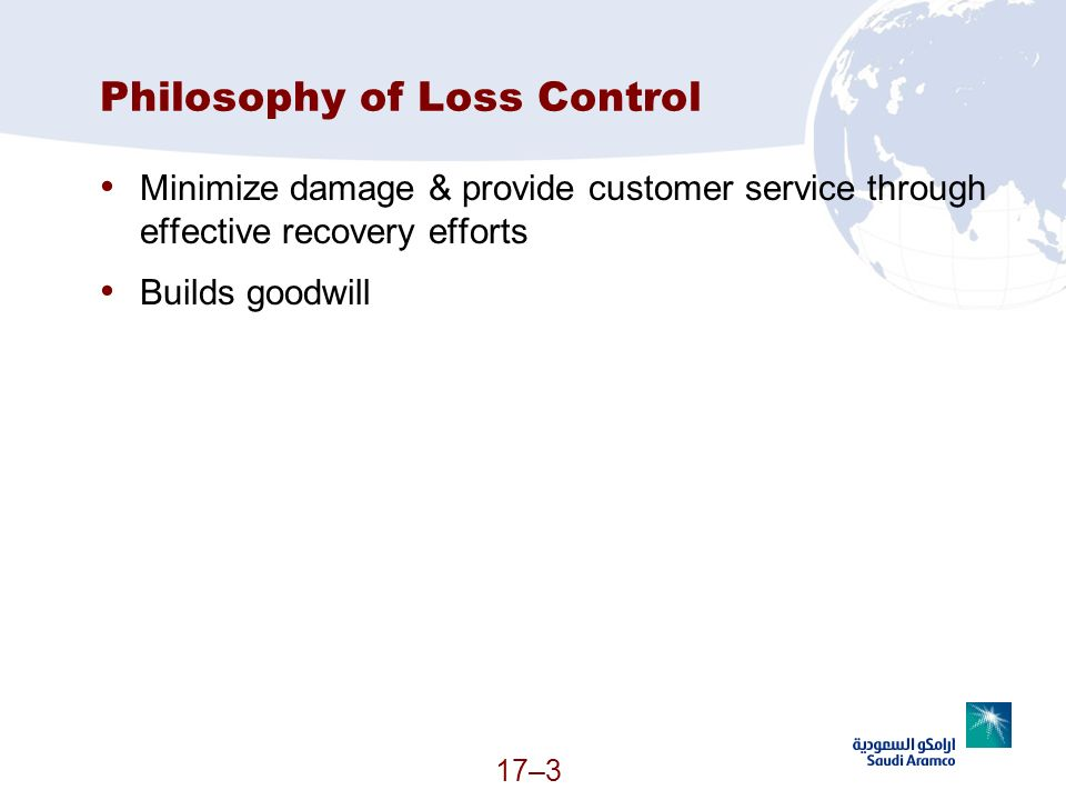Philosophy of Loss Control
