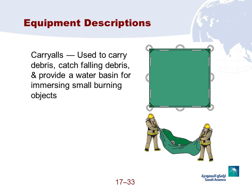 Equipment Descriptions
