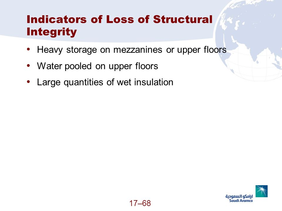 Indicators of Loss of Structural Integrity