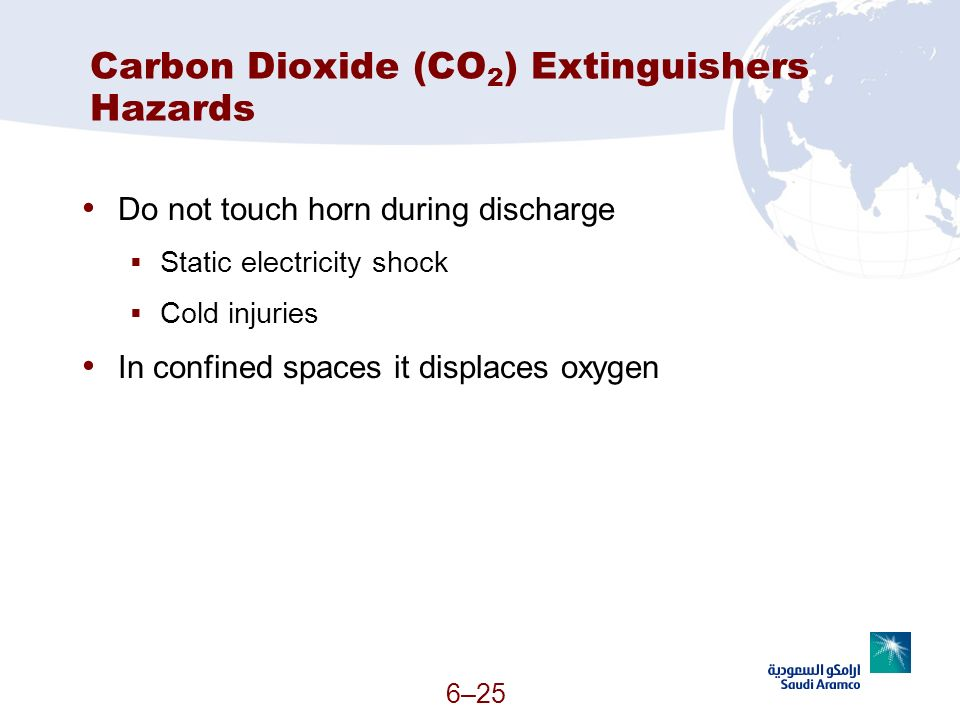 Carbon Dioxide (CO2) Extinguishers Hazards