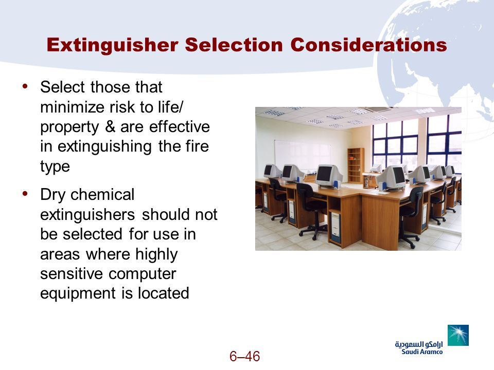 Extinguisher Selection Considerations