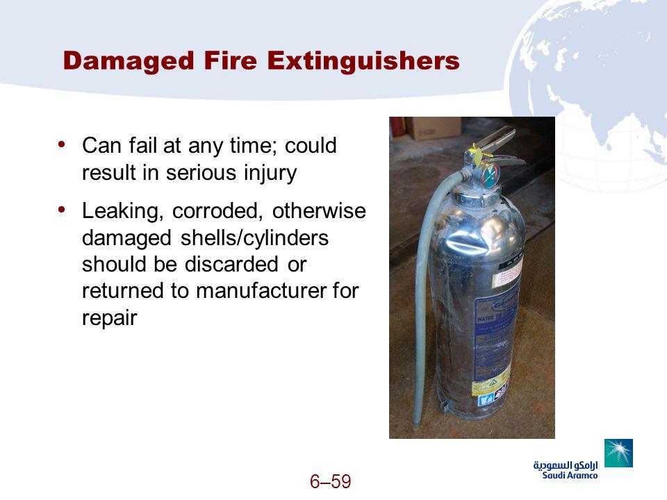 Damaged Fire Extinguishers