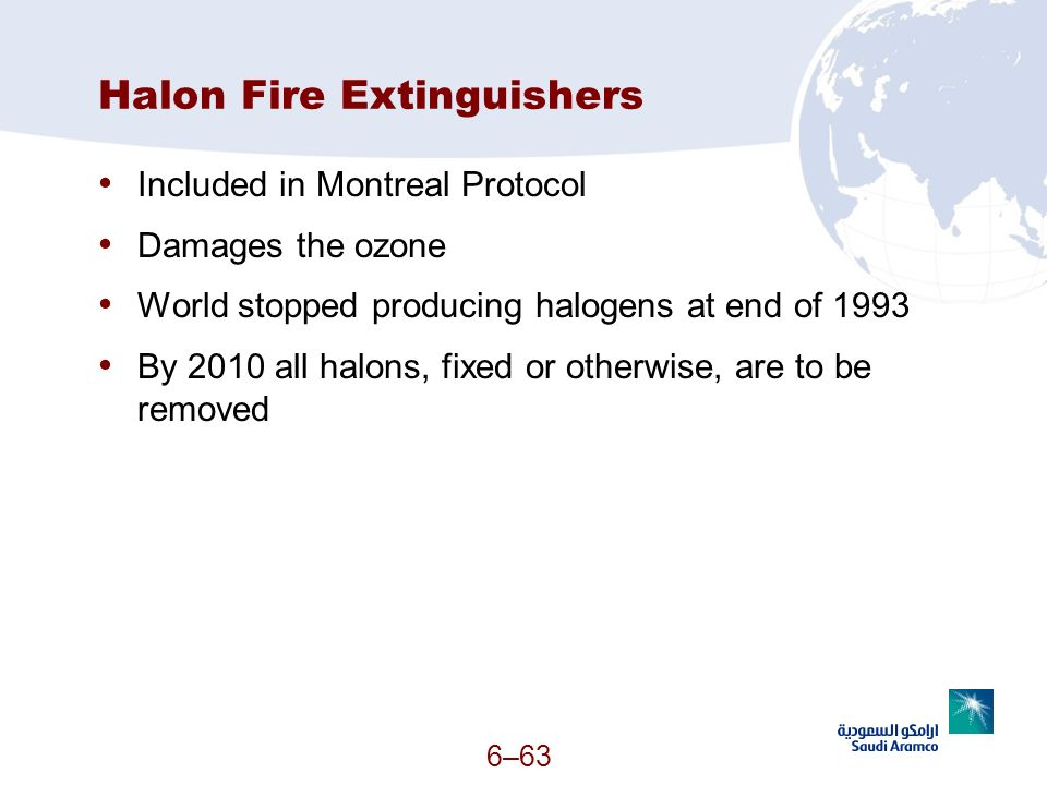 Halon Fire Extinguishers