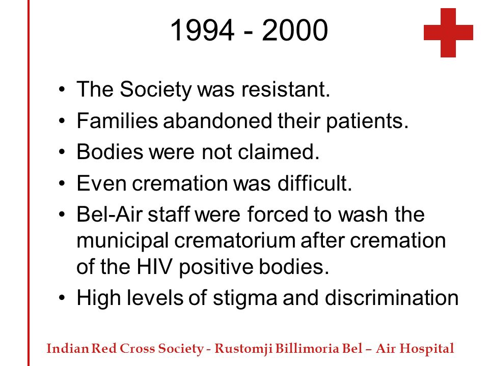 1994 - 2000 The Society was resistant.