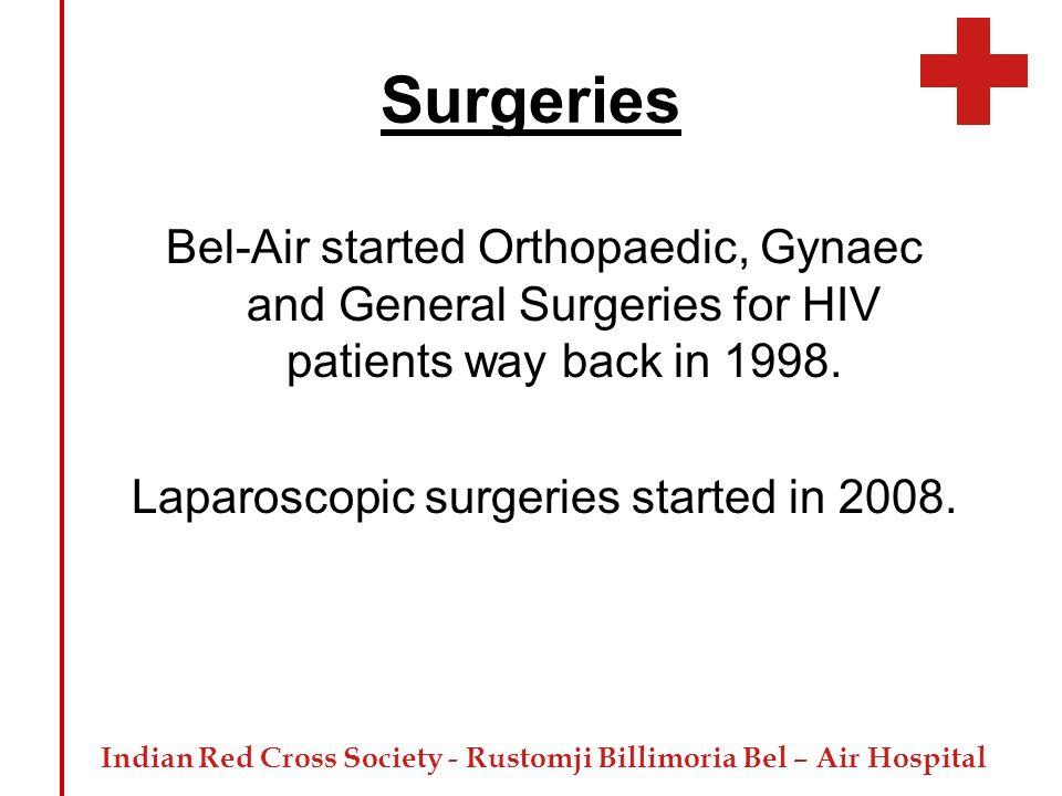 Laparoscopic surgeries started in 2008.