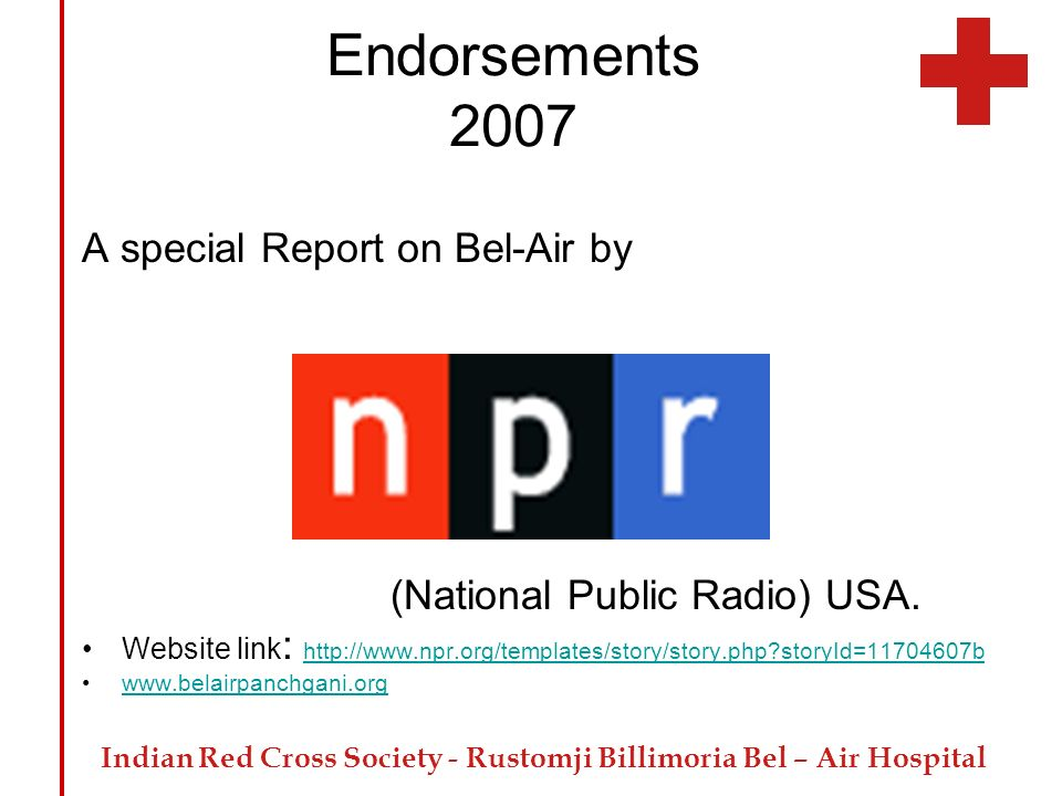Endorsements 2007 A special Report on Bel-Air by