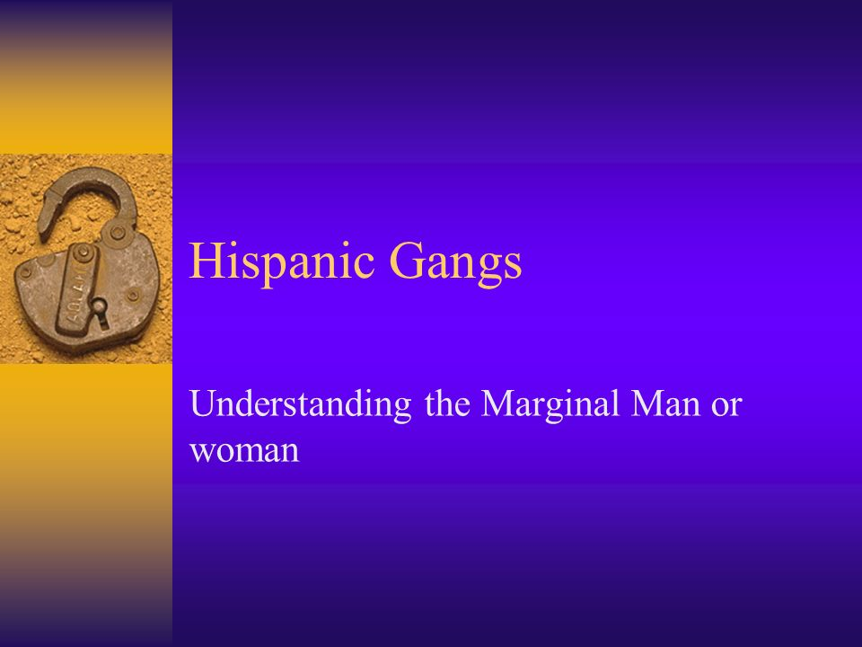 Understanding the Marginal Man or woman
