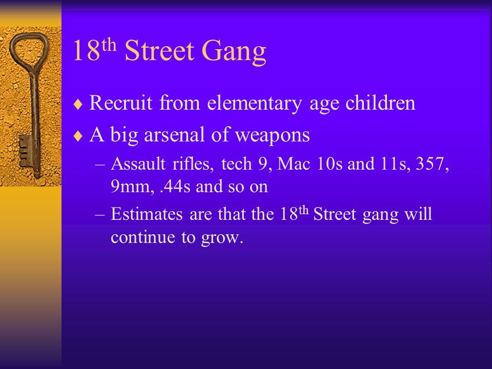 18th Street Gang Recruit from elementary age children