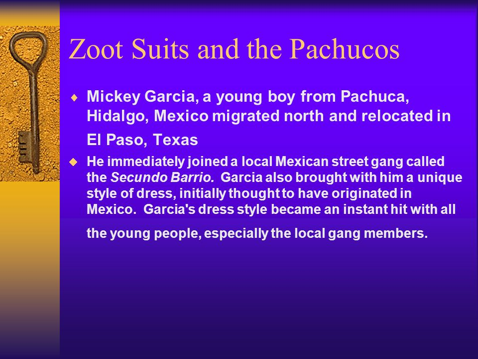 Zoot Suits and the Pachucos