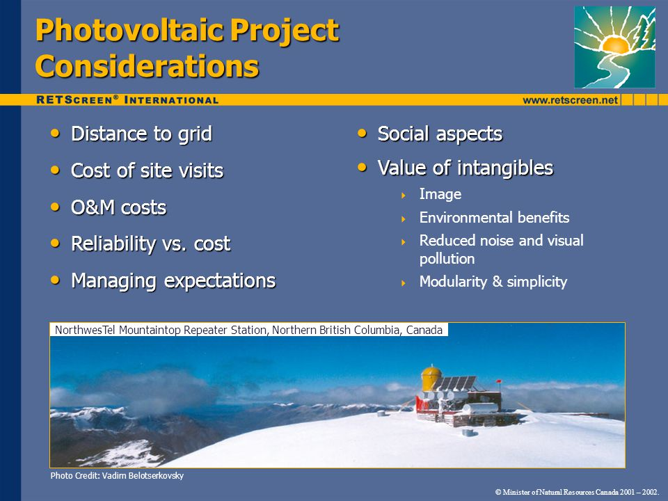 Photovoltaic Project Considerations
