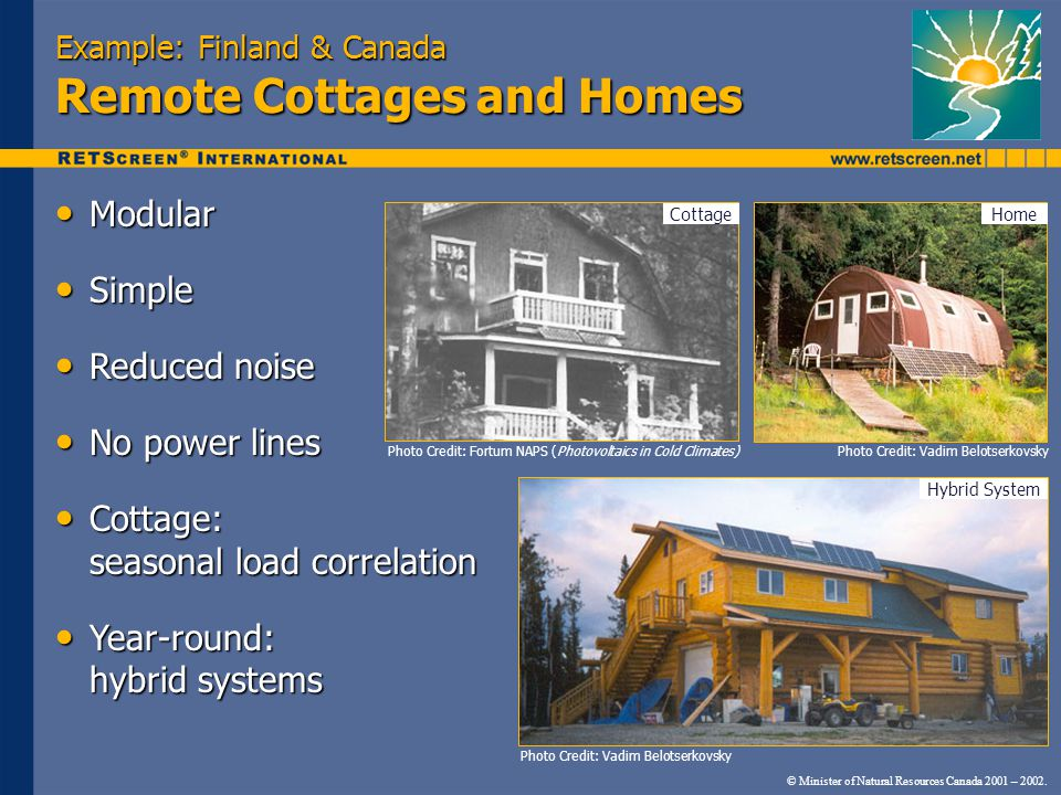 Example: Finland & Canada Remote Cottages and Homes