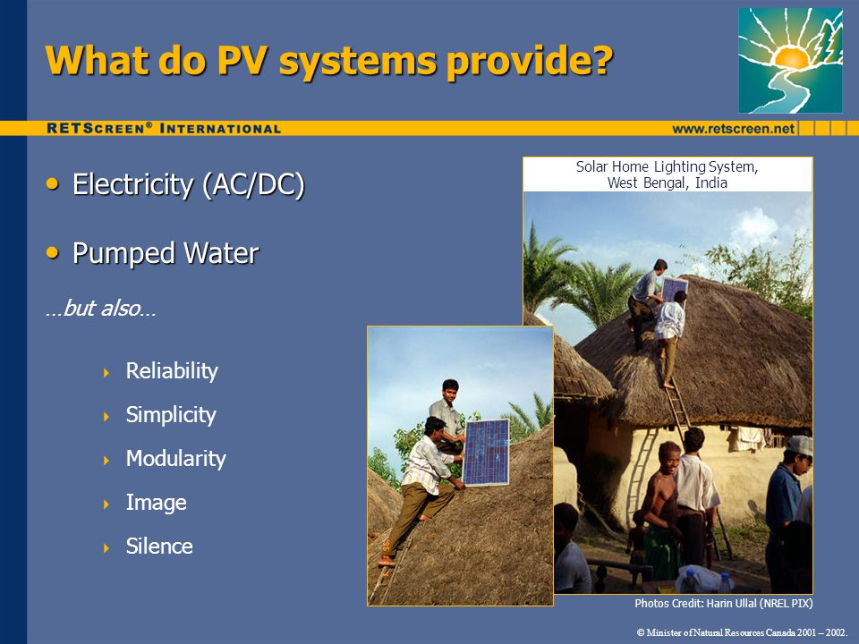 What do PV systems provide