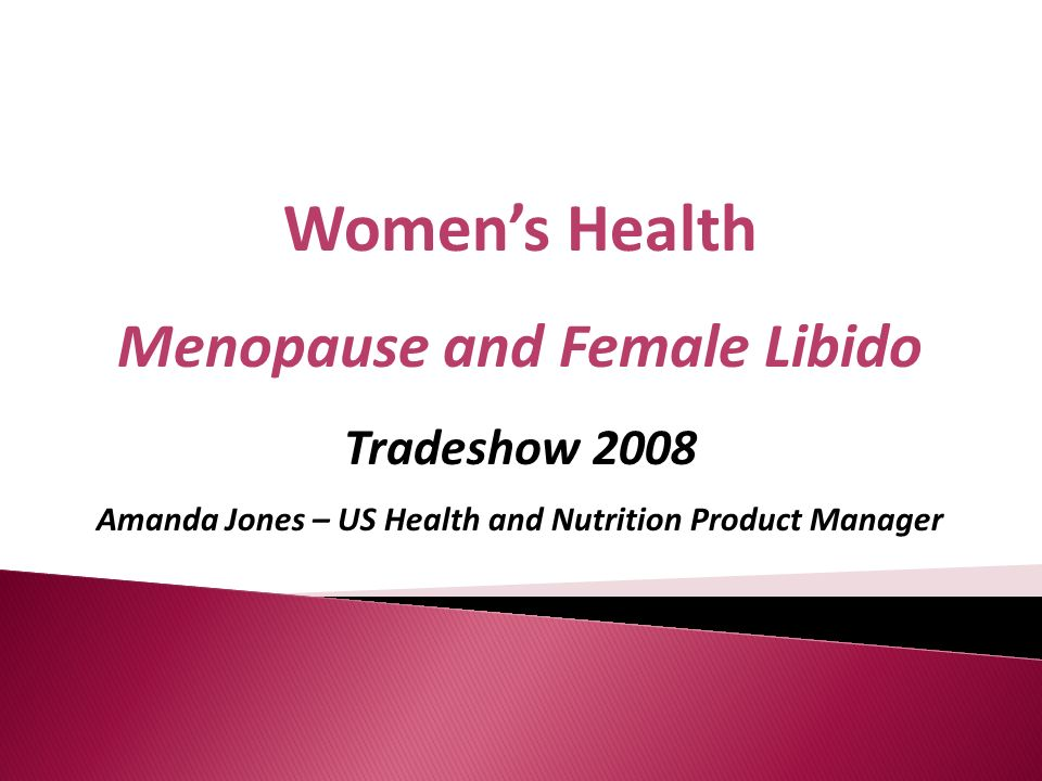 Women's Health Menopause and Female Libido Tradeshow 2008