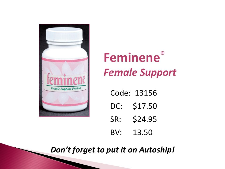 Don't forget to put it on Autoship!