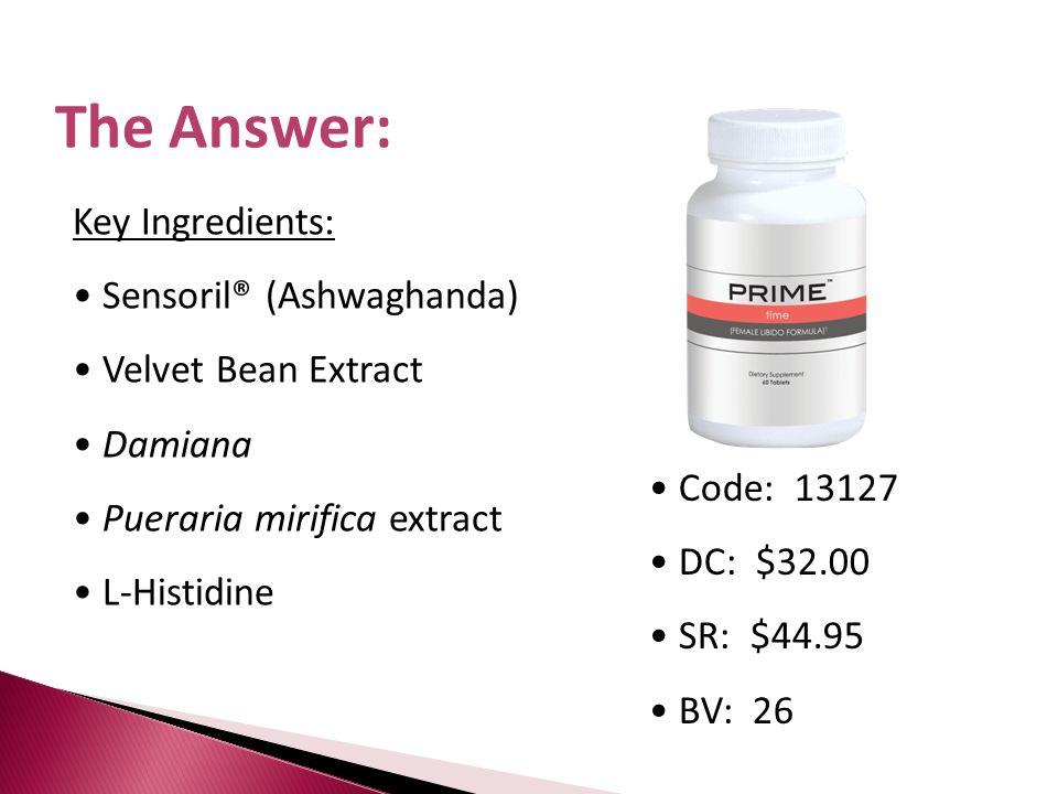 Sensoril® (Ashwaghanda) Velvet Bean Extract Damiana