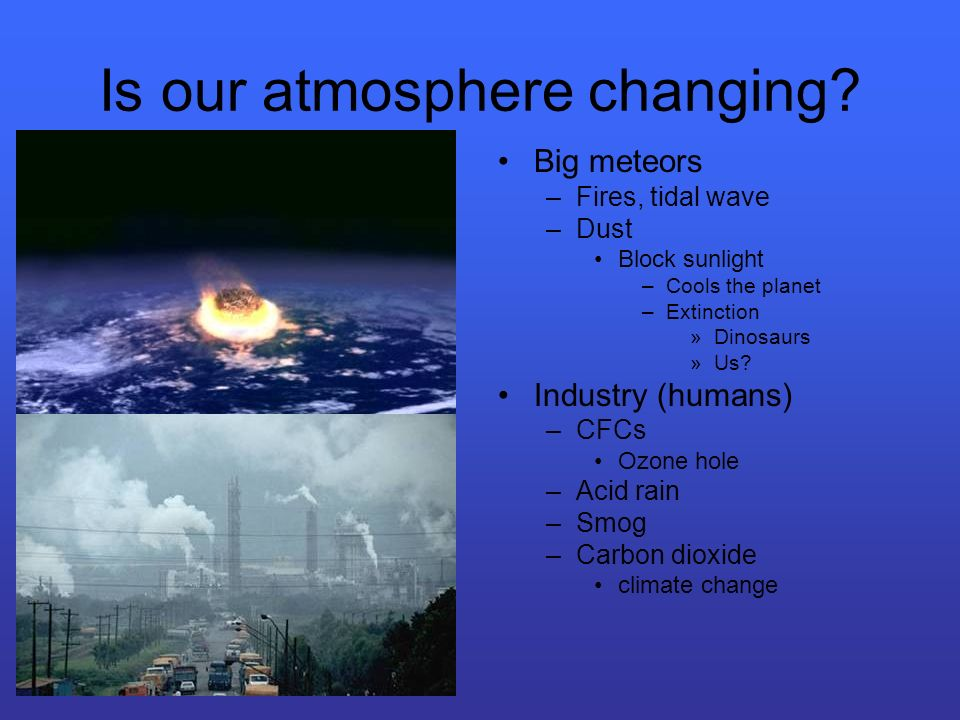Is our atmosphere changing