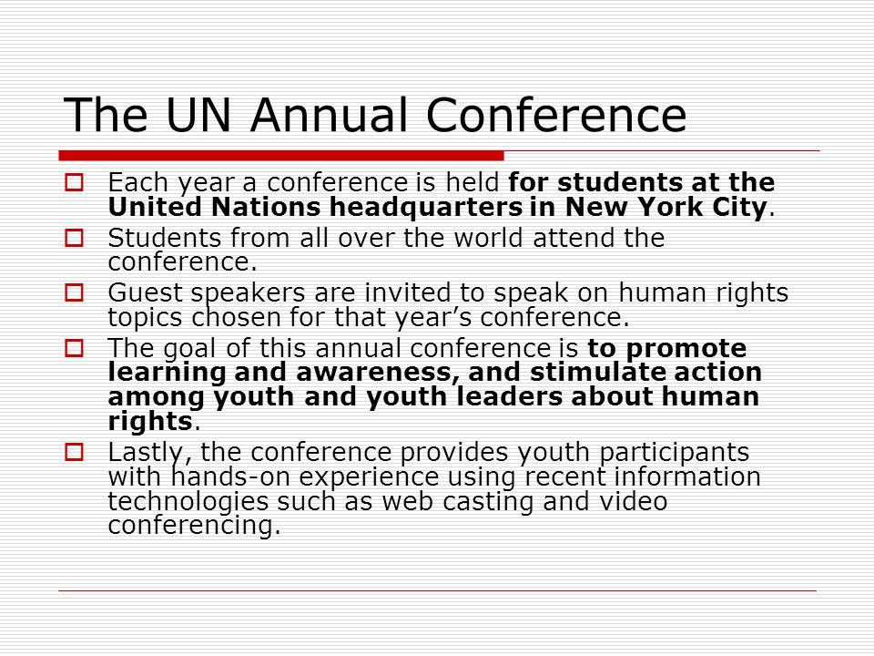 The UN Annual Conference