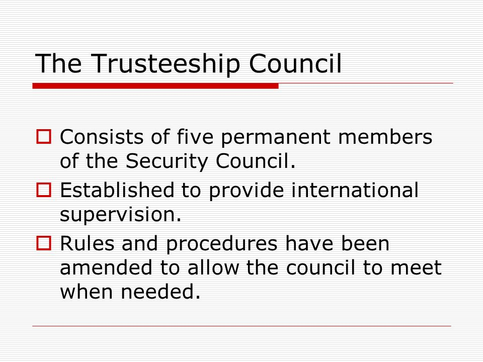 The Trusteeship Council