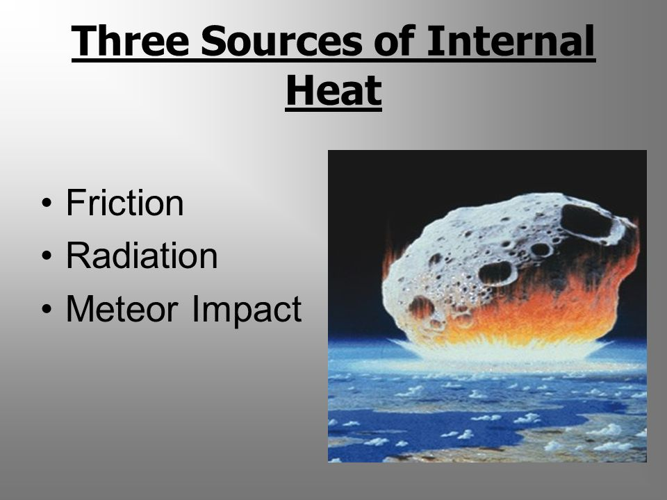 Three Sources of Internal Heat