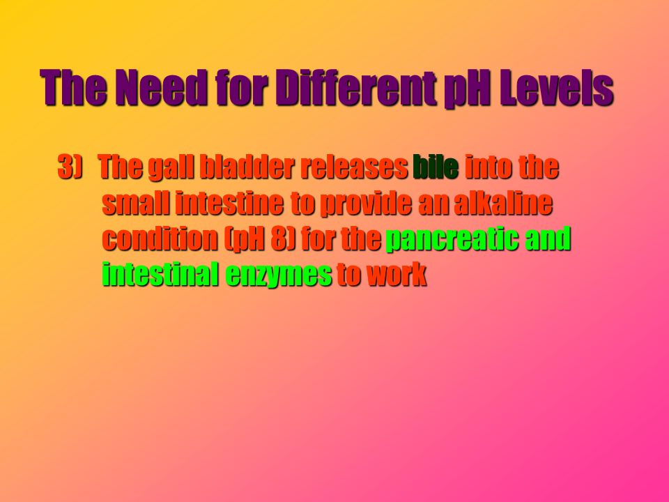 The Need for Different pH Levels