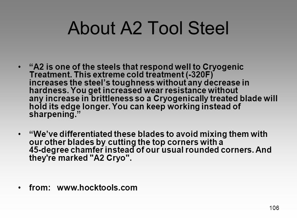 About A2 Tool Steel