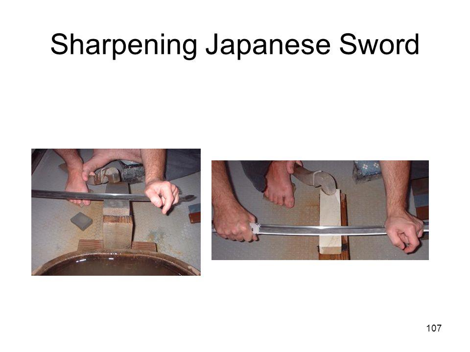Sharpening Japanese Sword
